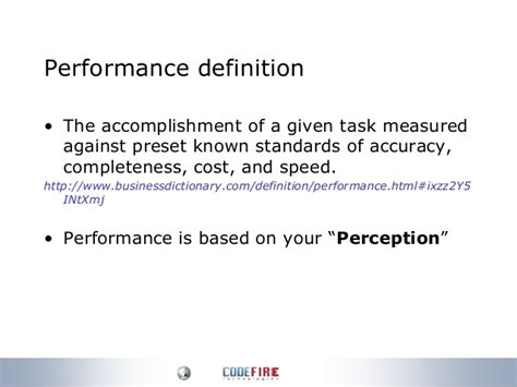 bench mark definition web application performance