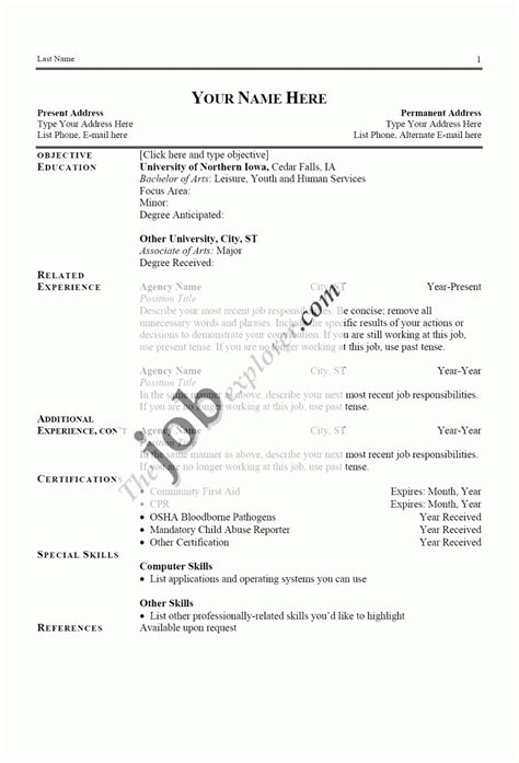 template of resume exles of resumes resume simple objective inside 87