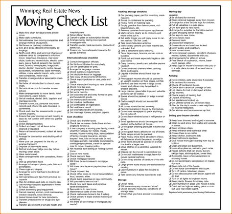 moving packing list template 6 moving packing listreference letters words reference