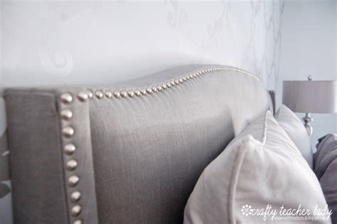 nailhead trim headboard diy upholstered headboard with nailhead trim homesfeed