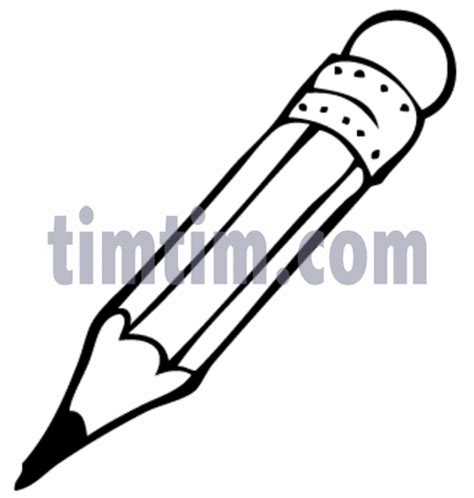 draw a pencil free drawing of a pencil bw from the category