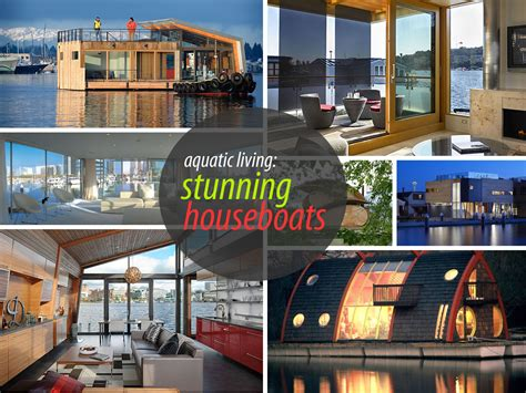floating home interiors for west coast living stunning houseboats for aquatic living