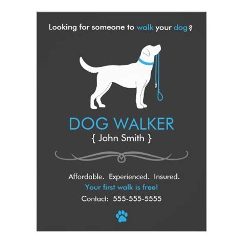 template of posters with business card walker walking business flyer template business