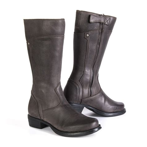 womens brown motorcycle boots stylmartin sharon women s motorcycle boots brown 24helmets