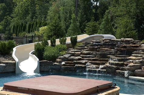 pool designs with slides custom pool slide joy studio design gallery best design