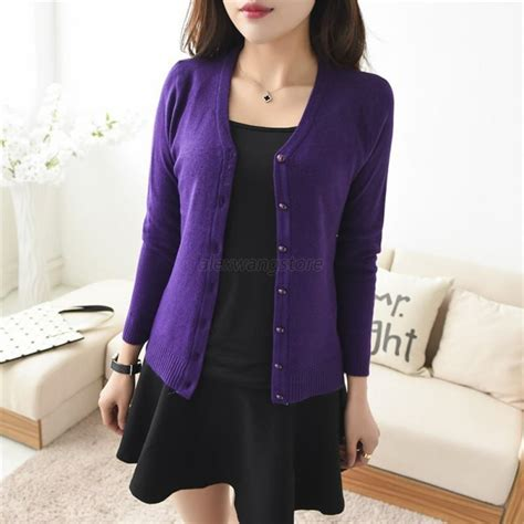 Blouse Sleeve Button Knit new sleeve knit cardigan front button