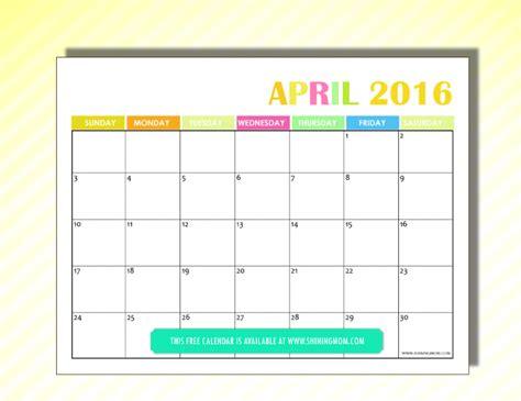 April Kalender 2016 April 2016 Calendar