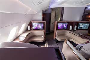 review qatar airways class a380 doha to