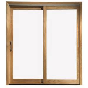 Wood Sliding Patio Door by Enlarged Image