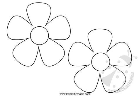 disegni di fiori da colorare e ritagliare sagome fiori da ritagliare