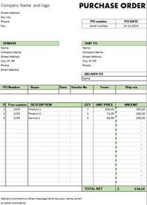 order template excel template free purchase order template for