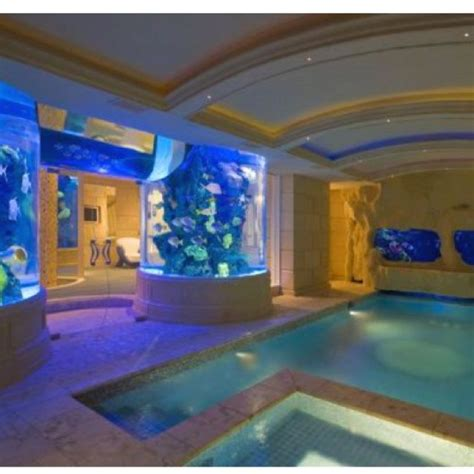 indoor pool on pinterest pools indoor swimming pools omg indoor pool with aquariums in walls