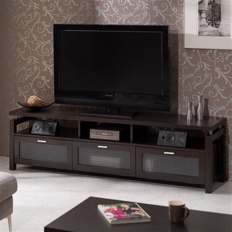 furniture of america espresso mistell modern entertainment