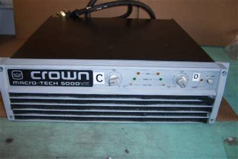 Power Lifier Crown Macro Tech crown macro tech macrotech 5000vz pro audio lifier