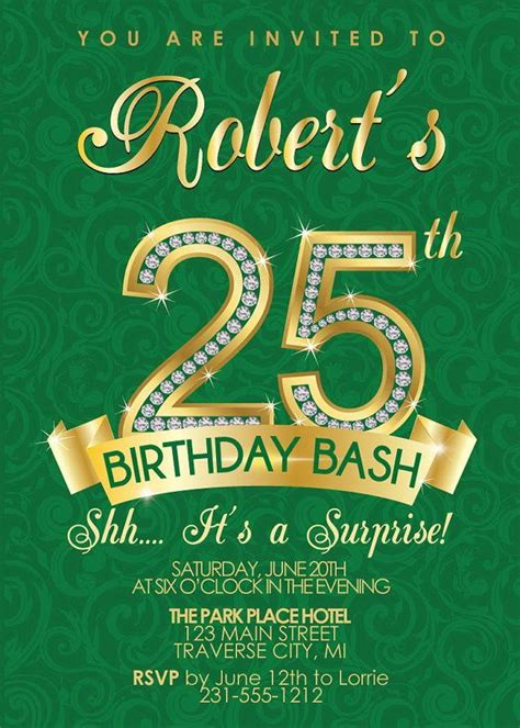 silver age  birthday invitations bagvania
