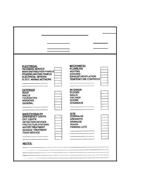 Building Maintenance Inspection Checklist Template