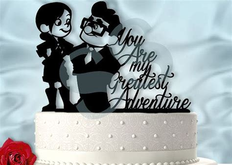 carl and ellie up inspired greatest adventure wedding cake topper wedding