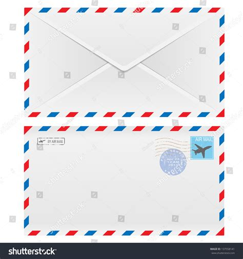 envelope background design air mail envelope postal st isolated stock vector