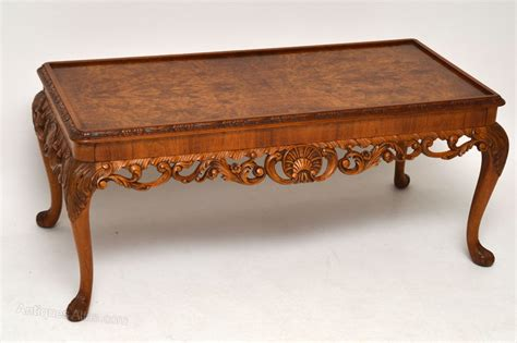 Antique Walnut Coffee Table Antique Burr Walnut Coffee Table Finely Carved Antiques Atlas