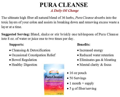 Detox Questions by Pura Cleanse Miracles Of Health