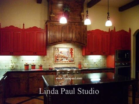 Kitchen Cabinets Dallas Texas by Mexican Tile Murals Chili Pepper Kitchen Backsplash Mural