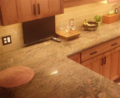 Glass Backsplash Tile For Kitchen Different Island Love The Subtle Subway Backsplash And