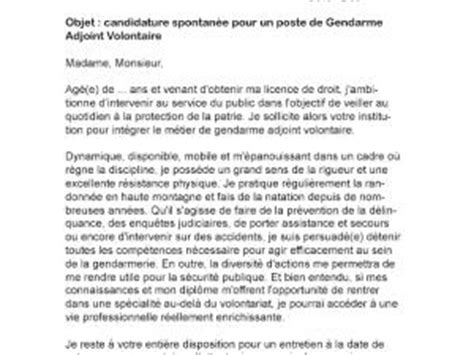 Lettre De Motivation De Gendarme Adjoint Volontaire Lettre Motivation Gendarmerie Adjoint
