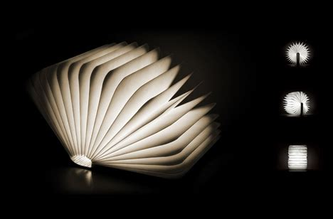 literal book light portable l unfolds open like pages