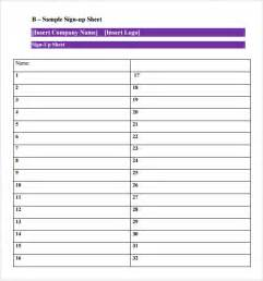 sign up sheet template sle sign up sheet 8 exle format