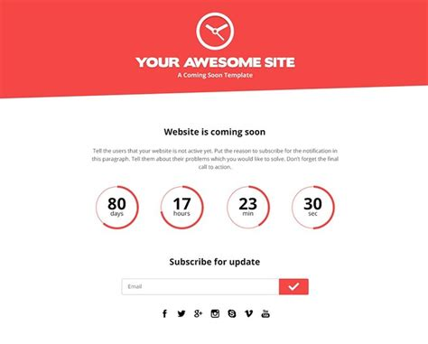 free bootstrap based psd coming soon template titanui