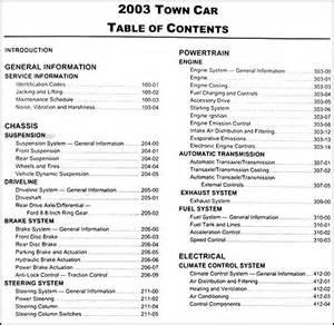 2003 lincoln town car repair shop manual original