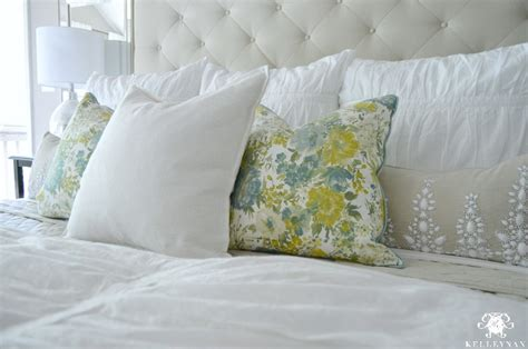 bed with euro pillows summer home showcase
