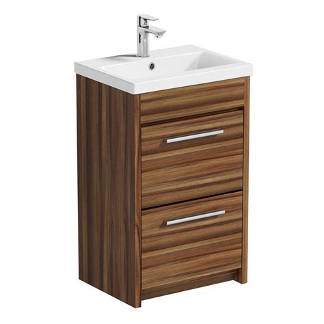 Basin Drawer Unit by Smart Walnut Vanity Drawer Unit With Basin 500mm