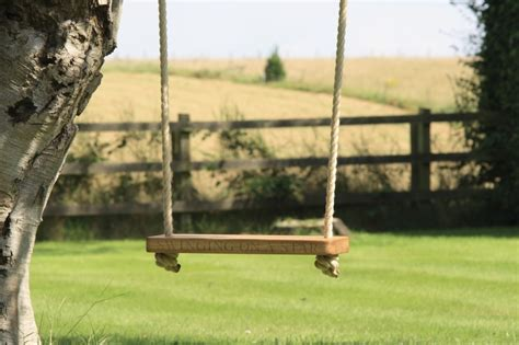 Wooden Children's Swings   MakeMeSomethingSpecial.com