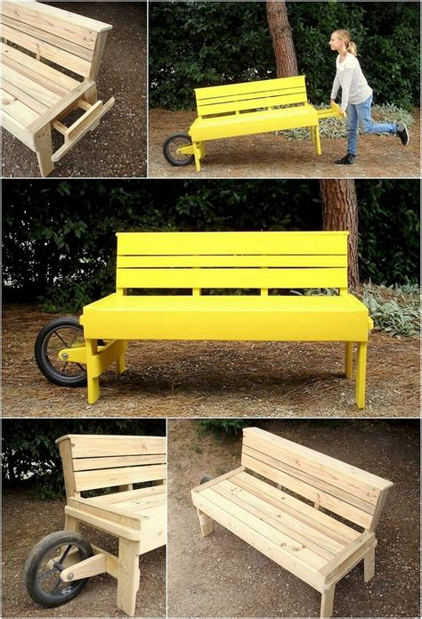 gardening bench with wheels sensational ideas for old wood pallets reusing pallet