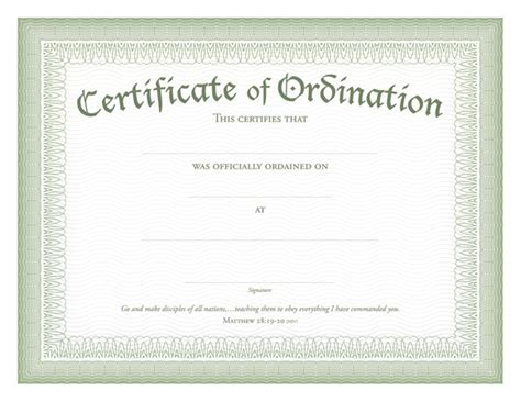 deacon ordination certificate template ordination certificates