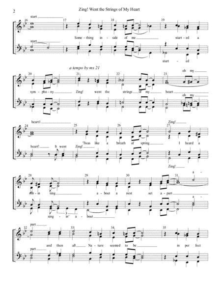 Zing Went The Strings Of My Heart Sheet Music PDF Download