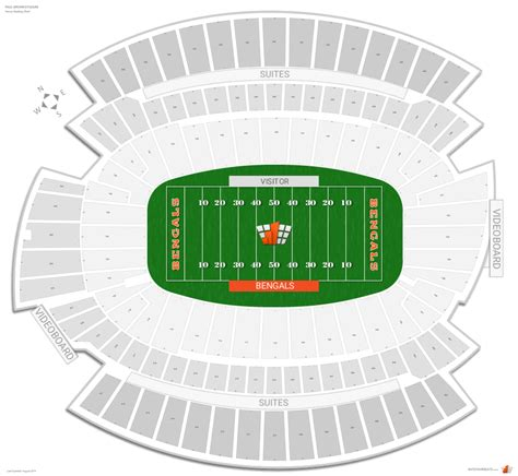 cincinnati bengals stadium seating cincinnati bengals seating guide paul brown stadium
