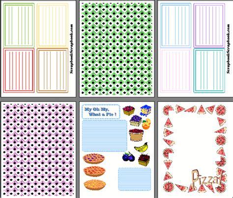 printable recipe scrapbook free sle designs for food