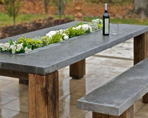 concrete patio furniture concrete table an original establishment idea home
