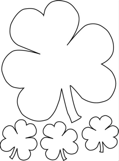 printable shamrock clover coloring page coloringpagebook com