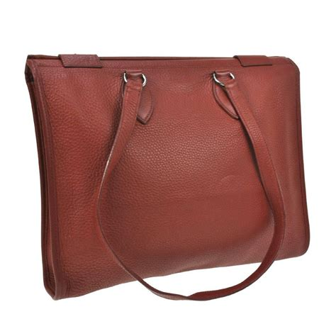 Hermes Carry On Smooth Leather 819vl 1 hermes leather palladium open tote shopper shoulder carry all business bag for sale at 1stdibs