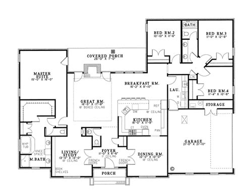 Ranch House Plans With Formal Living Room House Plan 82093 At Familyhomeplans Com