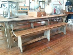farm table and bench furniture