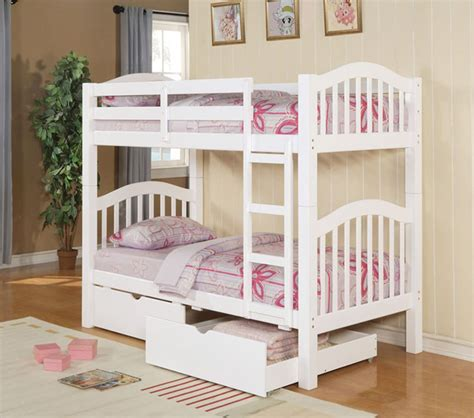 white bunk beds with storage dreamfurniture com 02357 white finish twin twin bunk bed