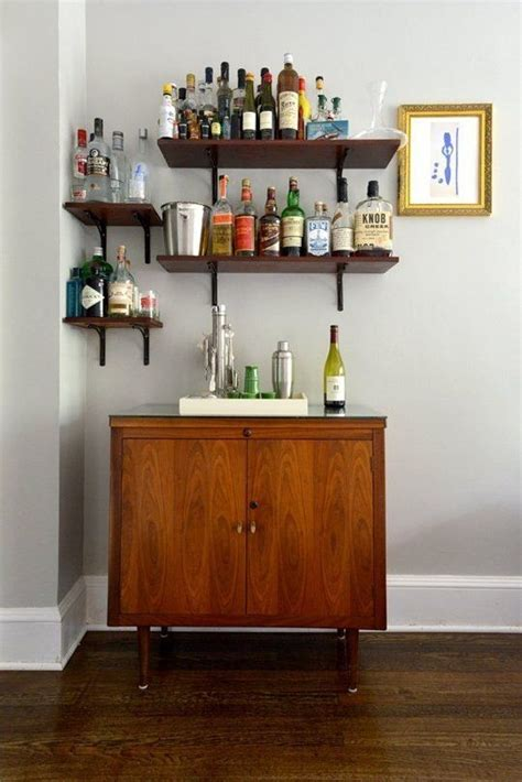 heidi s stylish reinvention home bar shelves for