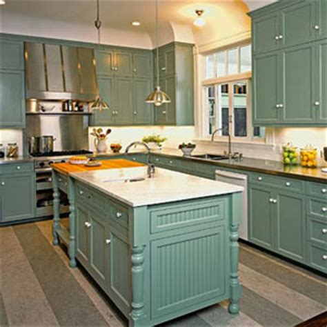 blue green kitchen cabinets try this idea color your cabinets southern living
