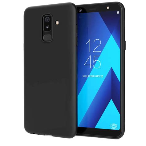 samsung galaxy a6 plus 2018 matte tpu gel solid black