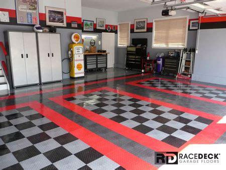 home garage workshop with racedeck garage flooring wall garage deck flooring home flooring ideas