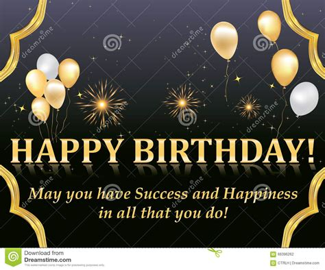 Happy Birthday Card Mba by Happy Birthday Card Stock Vector Image 66396262